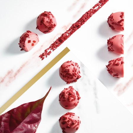 Ruby chocolate truffles