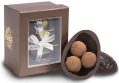 Dark chocolate Easter Egg with Dark chocolate Champagne Truffles
