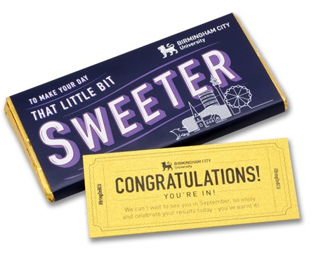Personalised 50g Bar with Golden Ticket