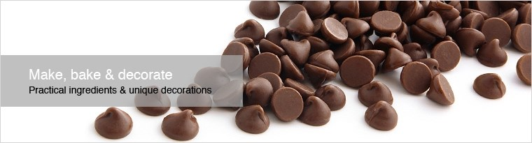 make bake and decorate header 2 - Chocolate Decorations