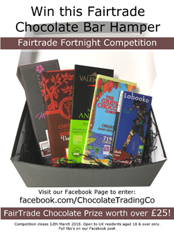 Fairtrade Fortnight chocolate bar mini hamper prize