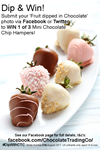 fruit dipped in chocolate facebook competition flyer
