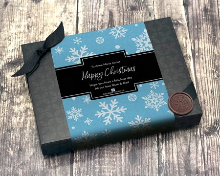 12 Box - Blue snowflakes