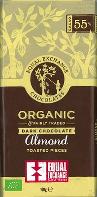 Equal Exchange, Toasted almond dark chocolate bar