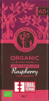 Equal Exchange, Organic Raspberry dark chocolate bar
