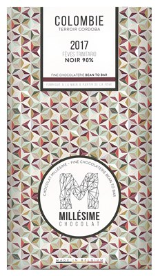 Millesime, Colombie 2017, 90% dark chocolate bar