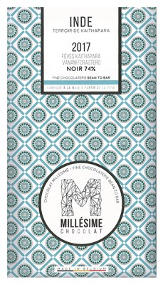 Millesime, Inde 2017, 74% dark chocolate bar