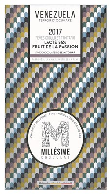 Millesime, Venezuela 2017, 55% passion fruit milk chocolate bar