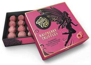 Willie's Cacao Raspberry Truffles Raspberry Praline Chocolate Truffles With A Liquid Centre