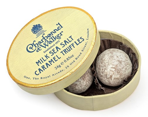 Charbonnel et Walker, Oval box, Milk sea salt caramel truffles