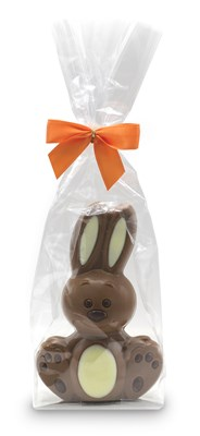 Milk chocolate cuddly Easter bunny