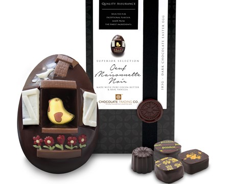 Oeuf Maisonnette, Superior Selection dark chocolate Easter egg