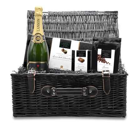 Chocolate & Champagne large wicker hamper
