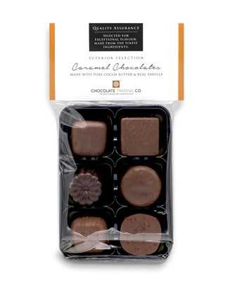 Superior Selection, 6 Assorted Chocolate Caramels Gift Pack
