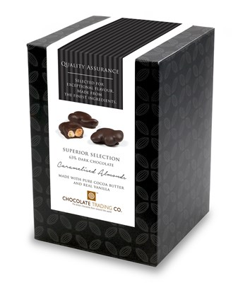 Superior Selection, Caramelised Almonds, Chocolate Gift Cube
