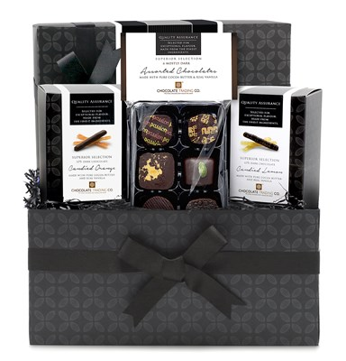 Superior Selection, Dark Chocolate 'Citrus' Mini Chocolate Hamper
