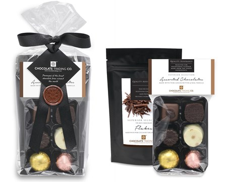 Superior Selection Chocolates & Hot Chocolate Flakes Gift Pack Lux