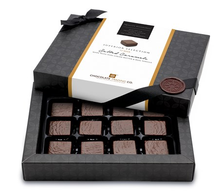 Superior Selection, Salted Caramels Chocolate Gift 12 Box