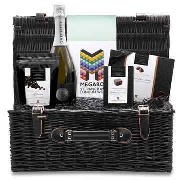 Personalised Chocolate Hamper in large wicker hamper basket