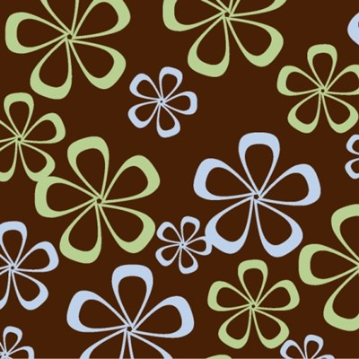 Abstract flowers, chocolate transfer sheets (on dark chocolate)