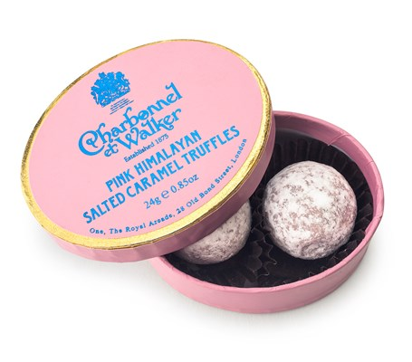Charbonnel et Walker, Pink Himalayan Salted Caramel Truffles, Oval box