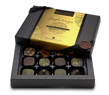 Superior Selection, Single Origin Ganaches Chocolate Gift Box - 12 box size