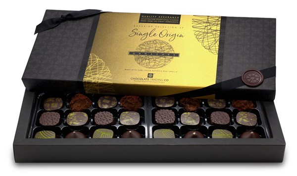 Superior Selection, Single Origin Ganaches Chocolate Gift Box - 24 box size