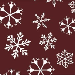 Snowflake chocolate transfer