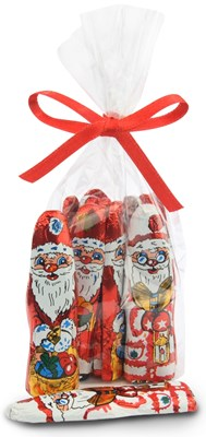 Foiled milk chocolate santas bag