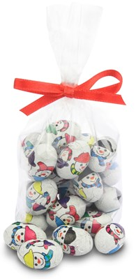 chocolate snowmen eggs bag