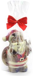 large chocolate santa in bag
