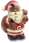 large milk chocolate santa with sack