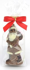 milk chocolate santa in bag