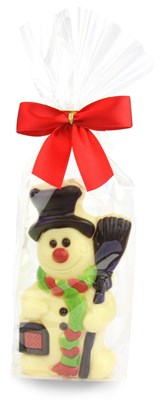 white chocolate snowman bag