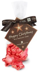 red chocolate stars gift bag