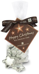Silver chocolate stars gift bag