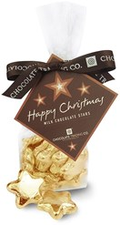 gold chocolate stars gift bag