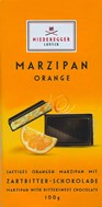 marzipan orange dark chocolate bar