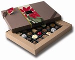 poinsettia christmas chocolate box