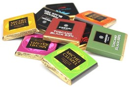 mixed chocolate tasting squares