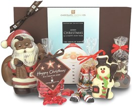 santa christmas chocolate hamper