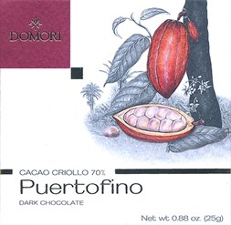 Domori Puertofino dark chocolate bar