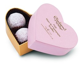 Valentines chocolate truffle box