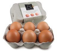 chocolate filled hens eggs