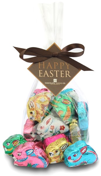 Chocolate trading co foiled chocolate easter bunnies with gift wrap option negle Images