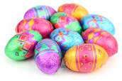 Patterned mini chocolate Easter eggs