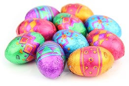 Patterned mini Easter eggs