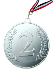Silver chocolate medal