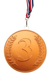 Bronze chocolate medal