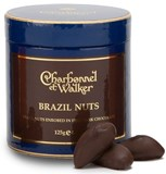 Dark chocolate enrobed Brazil nuts